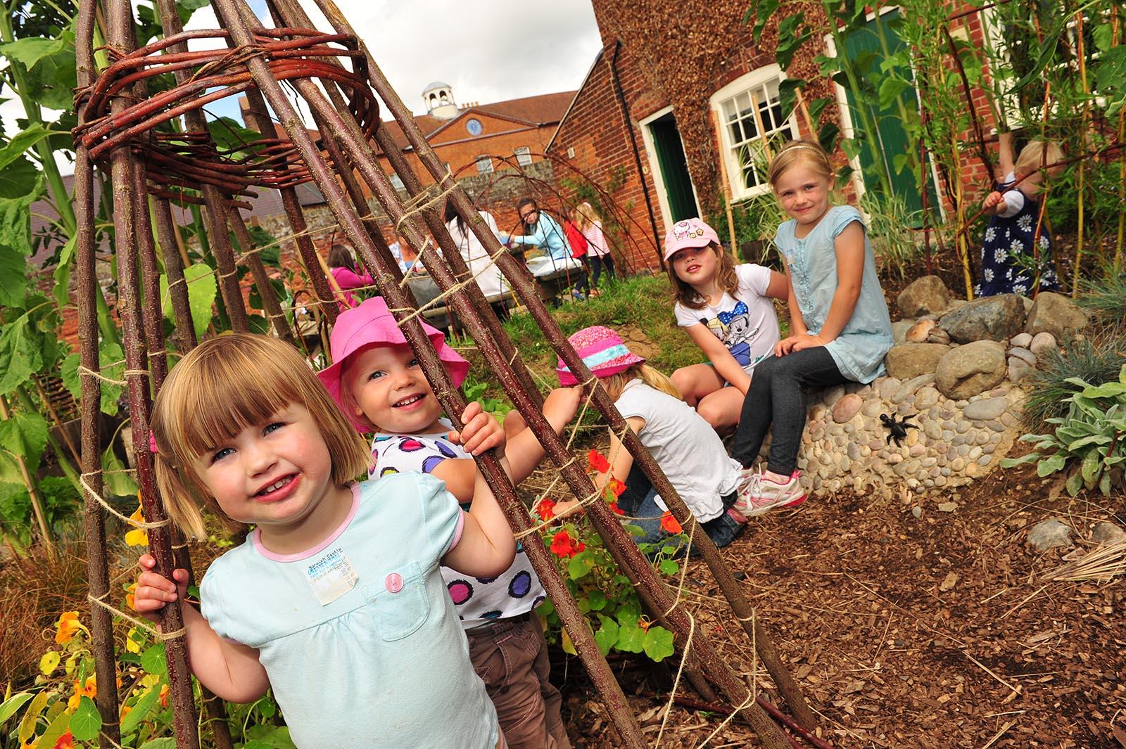 Gressenhall Curiosity corner learning centre garden GFW